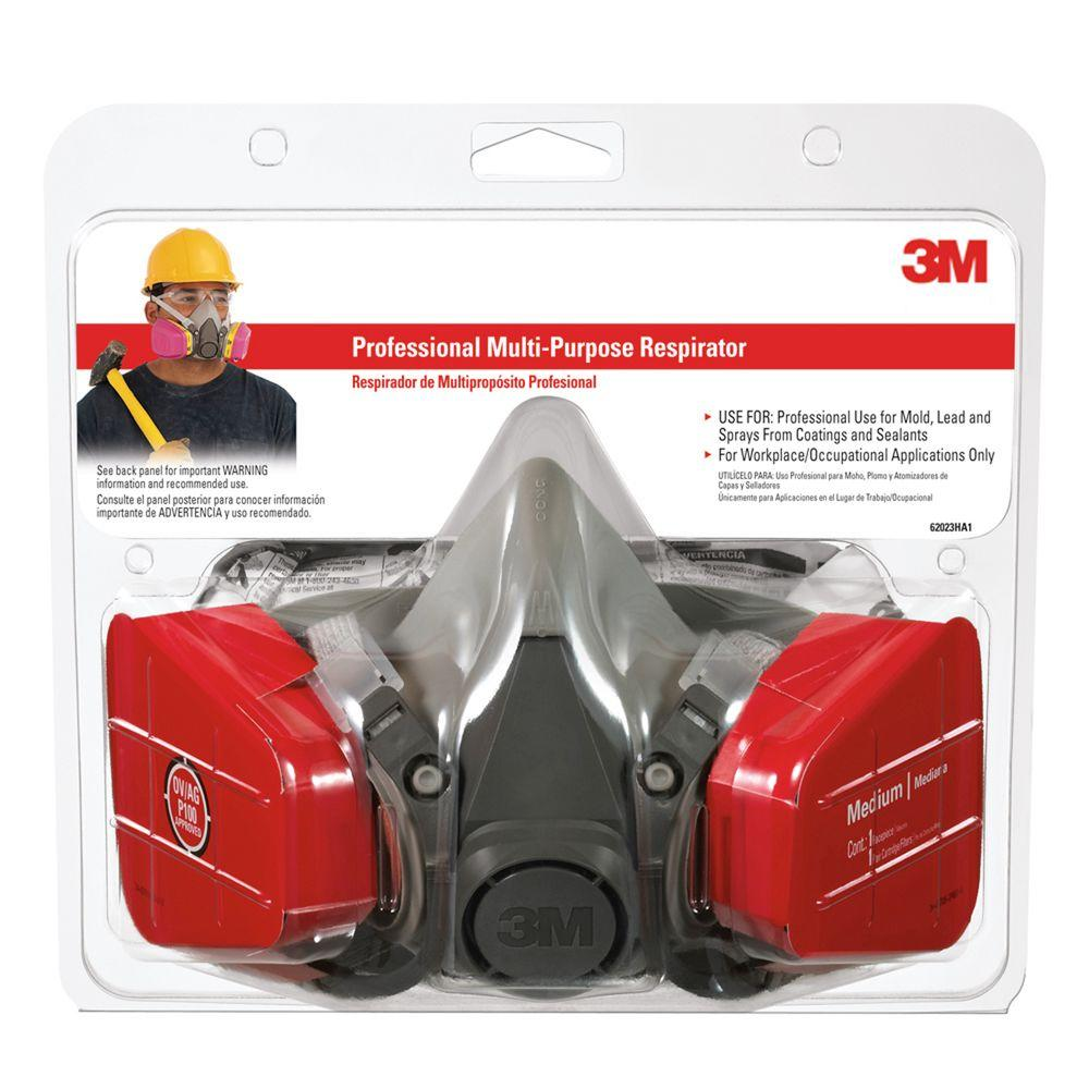 3M 62023HA1-C Tekk Protection Professional Multi-Purpose Respirator, Medium