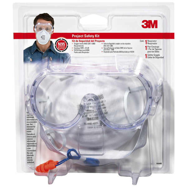 3M 93005-80030T Tekk Protection Project Safety Kit, 25 dB, 3 Pieces
