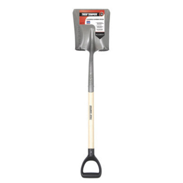 True Temper® 163119700 Square Point Scooping Shovel with D-Style Wood Handle