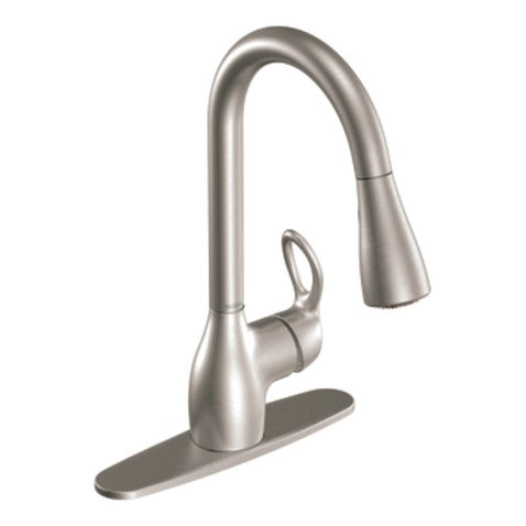 Moen CA87011SRS Kleo 1-Handle High Arc Pull-Down Faucet, Spot Resist Stainless