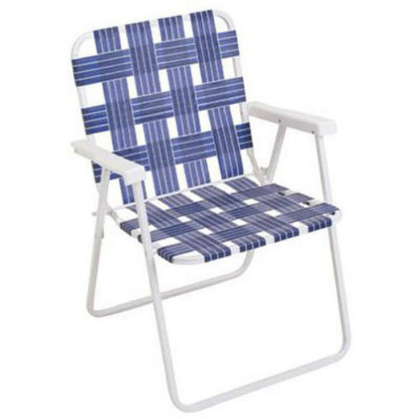 Rio Brands BY055-0138 Woven Steel Web Folding Chair, 190 Lbs Weight Capacity