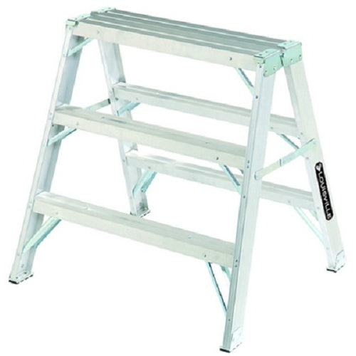 Louisville Ladder L-2032-03 Aluminum Sawhorse Step Ladder, 3'