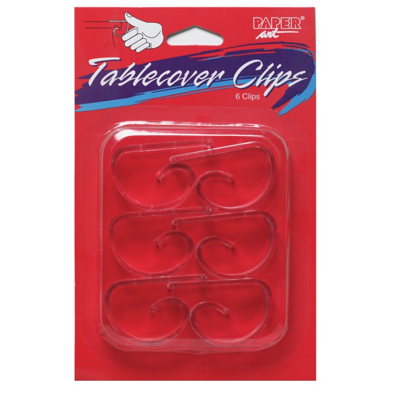 Creative Converting 01600 Plastic Table Cover Clips Clear 6 Count