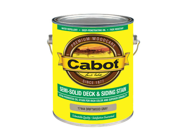 Cabot® 17444-07 Semi-Solid Deck & Siding Stain, Driftwood Gray, 1 Gallon
