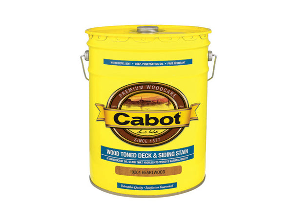 Cabot® 19204-08 Wood Toned Deck & Siding Stain, Heartwood, 5 Gallon