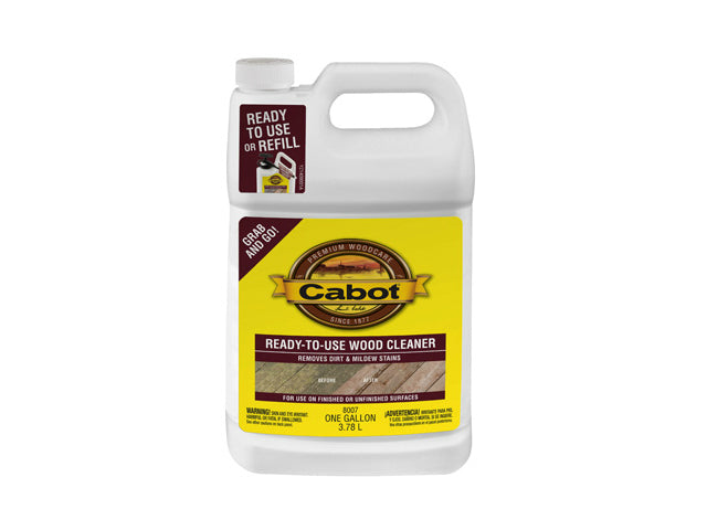 Cabot® 8007-07 Ready To Use Wood Cleaner, 1 Gallon