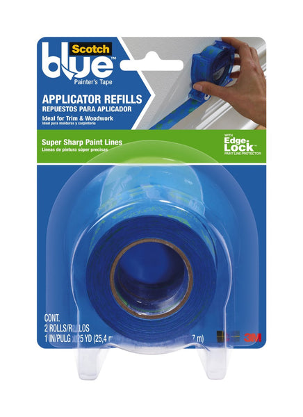 "ScotchBlue 2093EL-RF Painter's Tape Applicator Refills w/ Edge-Lock, 1"" x 25 Yd"
