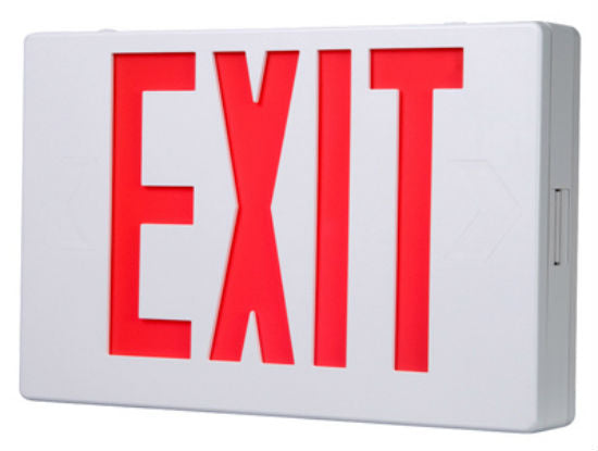 Sure-Lites APX7R All Pro LED Exit Sign with Ni-Cad Battery Back Up