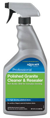 Aqua Mix AMGCRQT Polished Granite Cleaner & Resealer Spray Bottle, 1 Qt