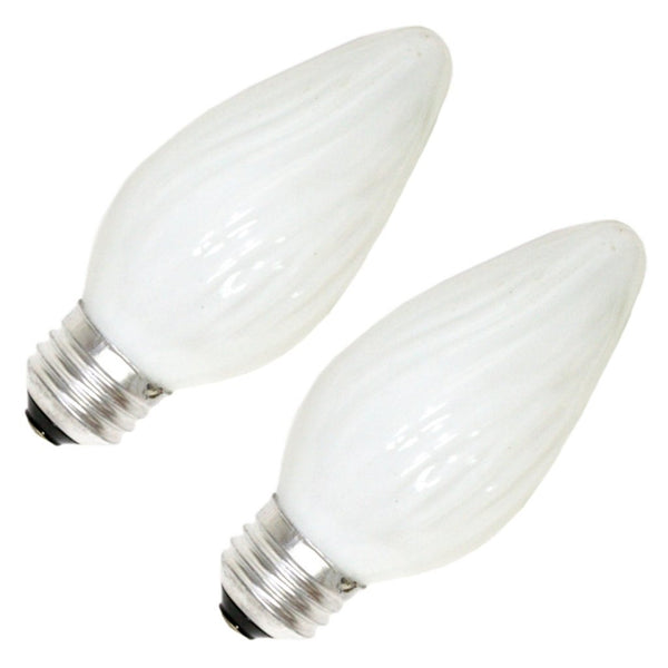 GE Lighting 75338 Flame Tip F15 Multi-Use Light Bulb, Soft White, 25W, 2-Pack