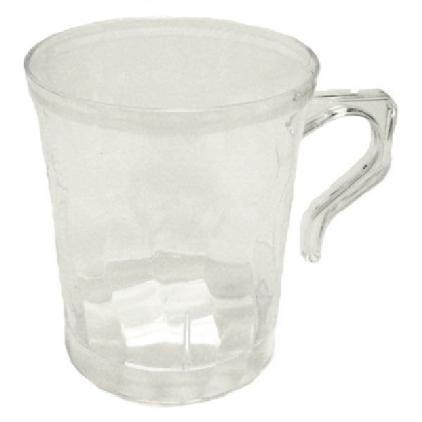 Table Mate 208-CL Clear Flairware Coffee Mug, 8 Count, 8 oz