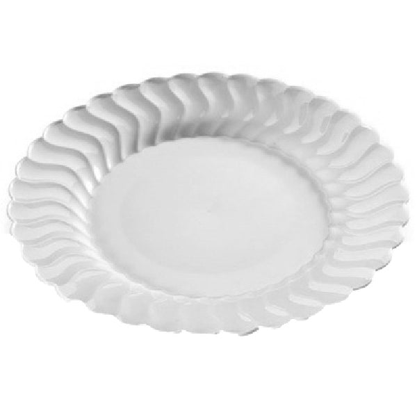 "Table-Mate 209-CL Clear Flairware Dinner Plate, 9"", 18-Count"