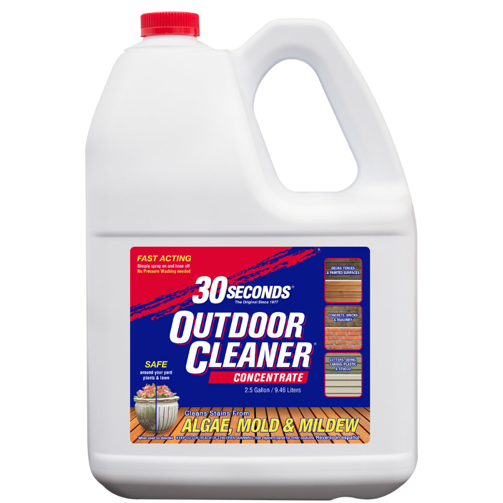 30 Seconds® 2.5G30S Outdoor Concentrated Cleaner, 2.5 Gallon