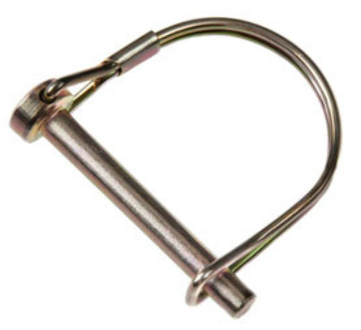 "Double HH 81975 Round Wire Lock Hitch Pin w/ Coil Tension, 1/4"" x 1-3/4"""