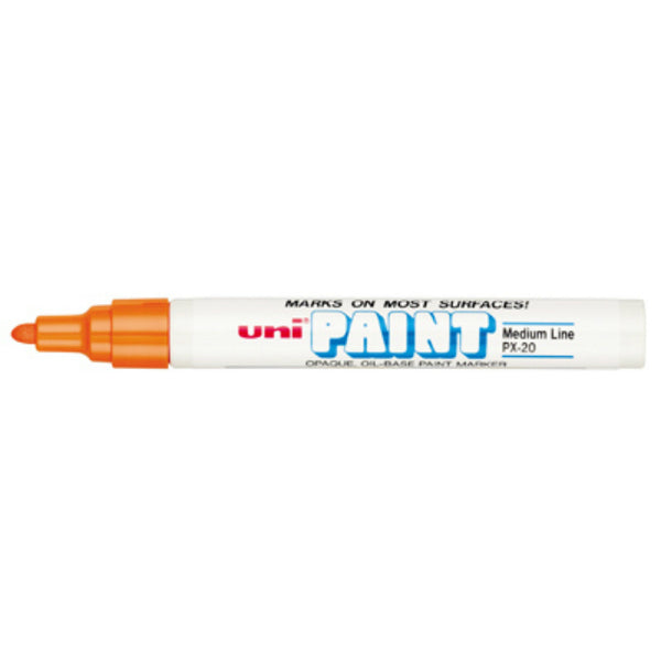 Uni®-Paint 63607 Oil Based Regular Tip Marker, Orange, Medium Line