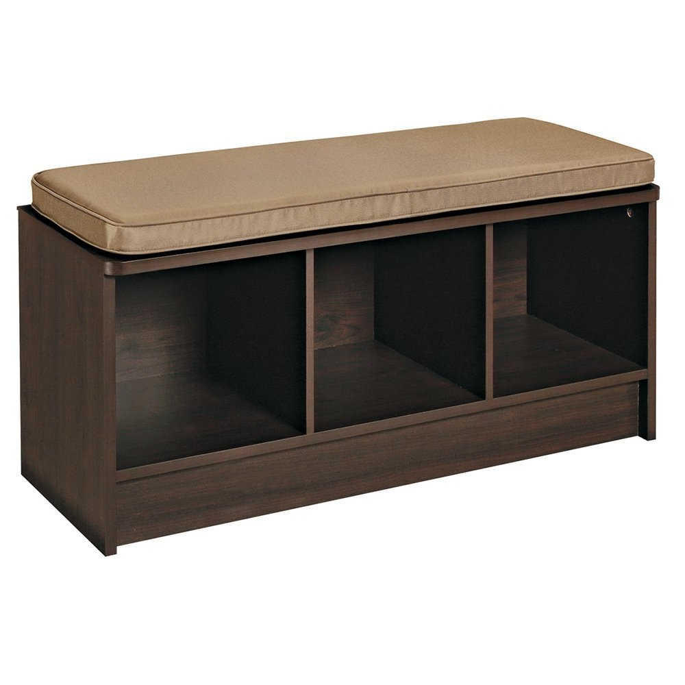 ClosetMaid® 157000 Cubeicals® 3-Cube Organizer Bench, Laminated Wood, Espresso