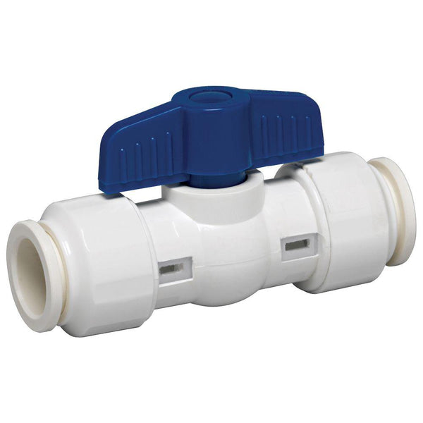 GripWerks™ 117-8-34-34B Push-Fit PVC Ball Valve, 3/4""