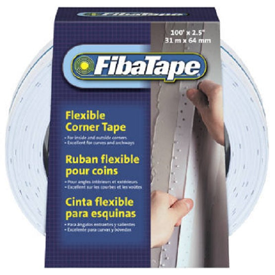 "FibaTape® FDW7738-U Flexible Polymer Corner Tape, White, 2-1/2"" x 100'"