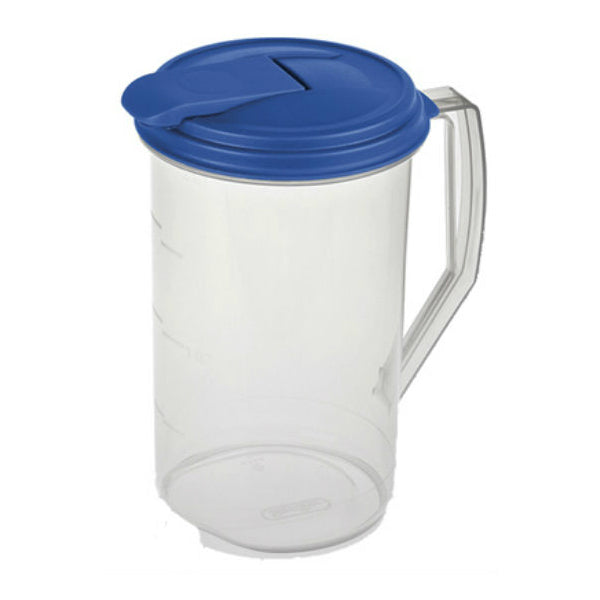 Sterilite® 04864106 Round Pitcher with Hinged Flip-Top Lid/Spout, 2 Qt