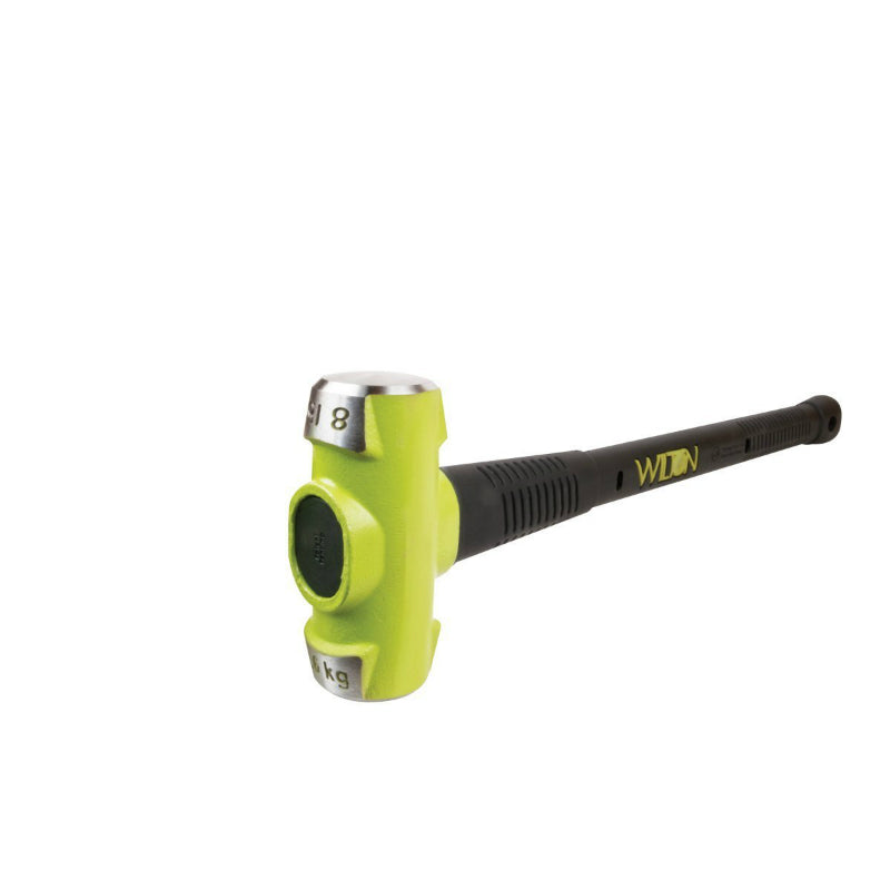 "Wilton Tools 20824 B.A.S.H® Green Head Sledge Hammer, 8 Lb Head, 24""L"