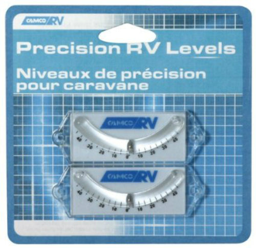 Camco 25553 RV Precision Curved Ball Level, 2-Pack