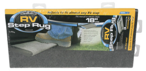 "Camco 42925 RV Wrap Around Step Rug, 18"" W, Gray"
