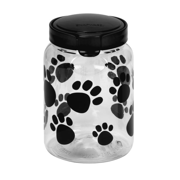 Snapware® 1098567 Airtight Food Storage Paw Prints Pet Treat Canister, 9.8 Cup
