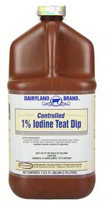 Dairyland ST0201-DB-TL31 1% Controlled Iodine Teat Dip, 1 Gallon