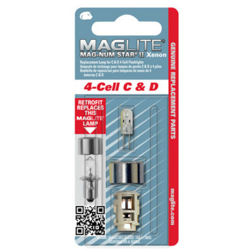 Maglite LMXA401 Magnum Star II Xenon Replacement Lamp for C & D 4-Cell Flashlight