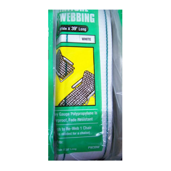 "Frost king PW39W Outdoor Furniture Re-Webbing Kit, 2-1/4"" x 39', White"