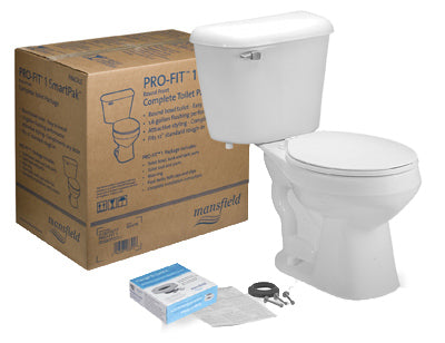 Mansfield 130CTK Pro-Fit 1 Complete Toilet In Box Kit, White
