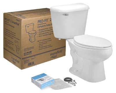Mansfield 135CTK Pro-Fit 2 Complete Toilet In Box Kit, White