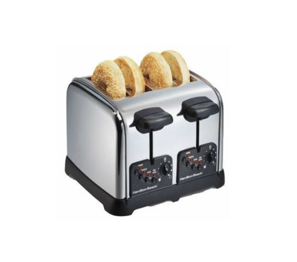 Hamilton Beach 24790 4-Slice Classic Bagel Toaster, Chrome