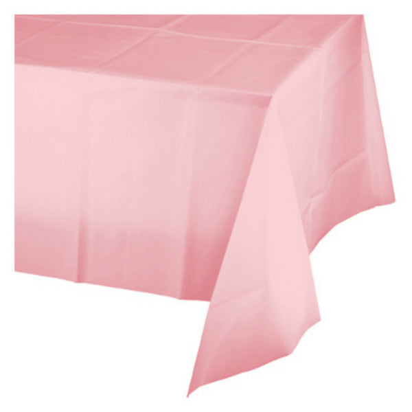 "Creative Converting™ 014016 Plastic Banquet Table Cover, Classic Pink, 54""x108"""