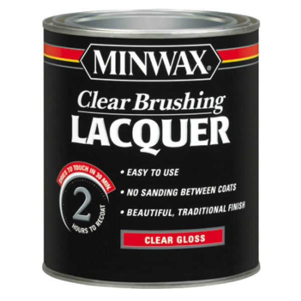 Minwax® 15500 Clear Brushing Lacquer, 1-Qt, Clear Gloss