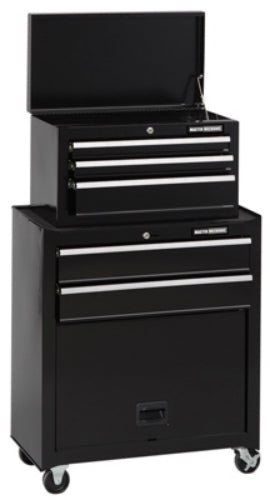 Master Mechanic MM26TCBBK5 Five-Drawer Tool Center with Panel, Black