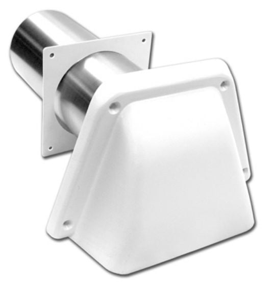 "Lambro 1472W Preferred Hood Vent, 4"" x 8"", White"