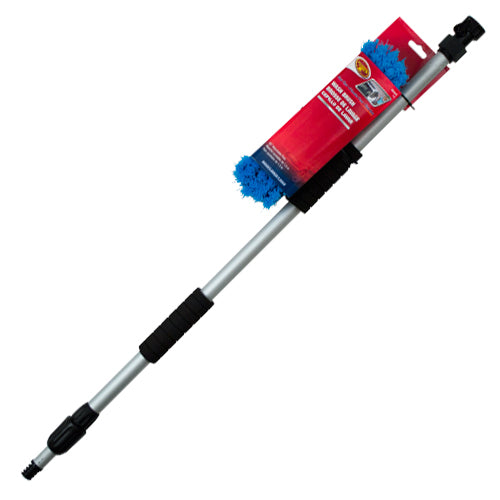 "Detailer's Choice 4B3698 Flow-Thru Vehicle Wash Brush w/60"" Telescoping Handle"