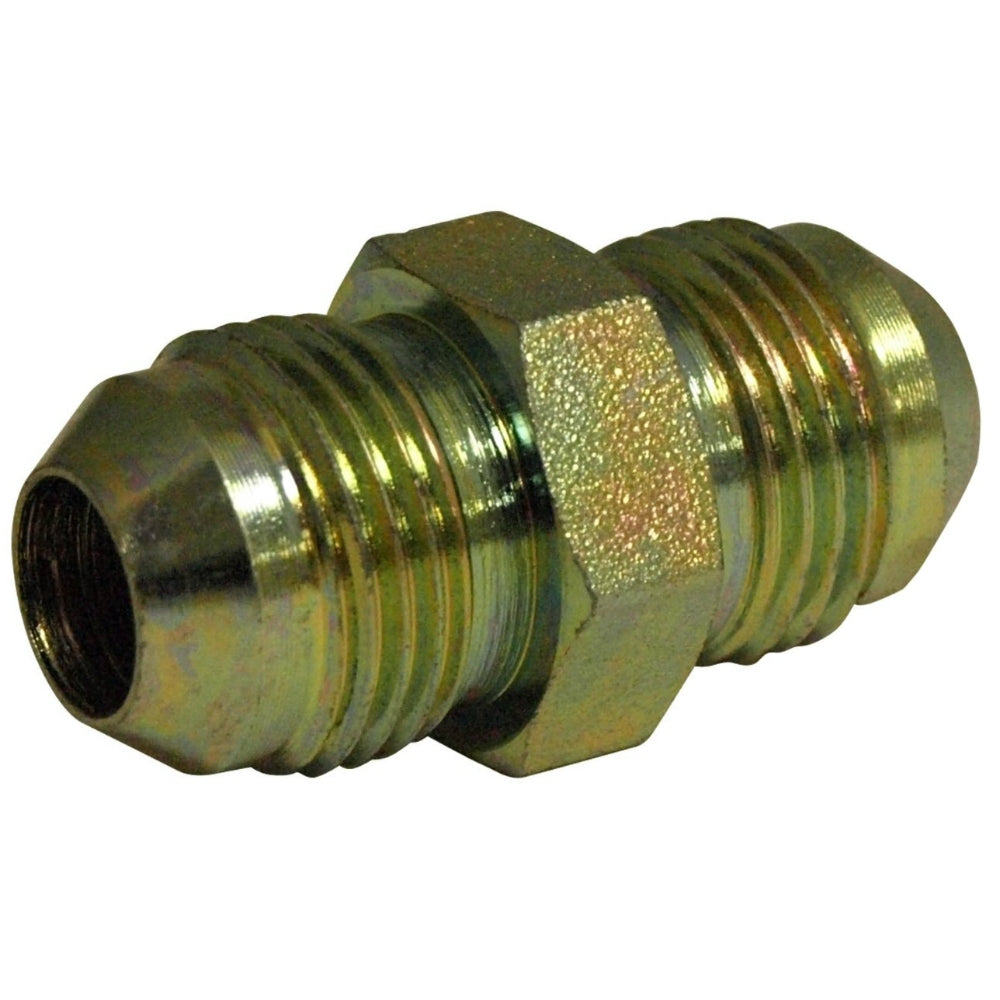 "Apache 39035007 Straight Hydraulic Adapter, 3/4"" Male JIC x 3/4"" Male JIC"