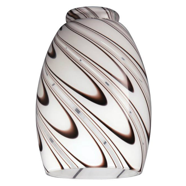 Westinghouse 8141000 Handblown Chocolate Drizzle Glass Shade, 2-1/4""
