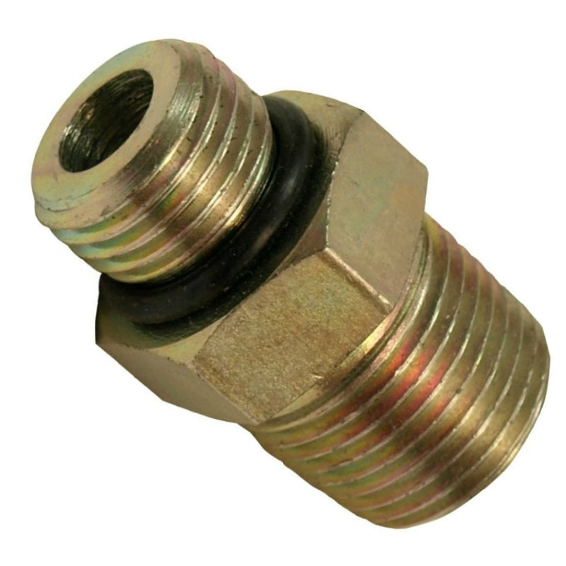 "Apache 39038862 Hydraulic Hose Adapter, 1/2"" Male O-Ring x 1/2"" MP (Style 6401)"