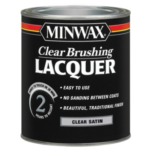 Minwax® 15510 Clear Brushing Lacquer, 1-Qt, Clear Satin