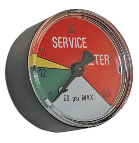 "Apache 99019342 Filter Service Indicator Gauge, 2"", 25 PSI"