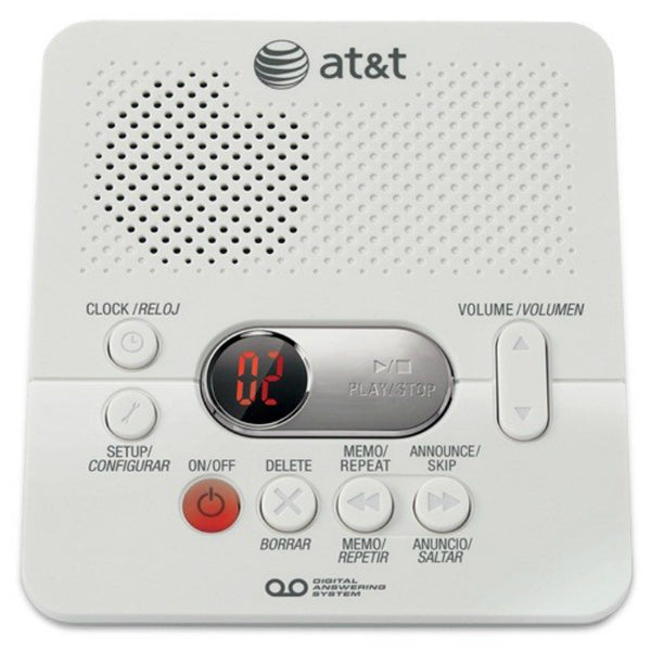 AT&T® 1740 Digital Answering System with Time/Day Stamp, White