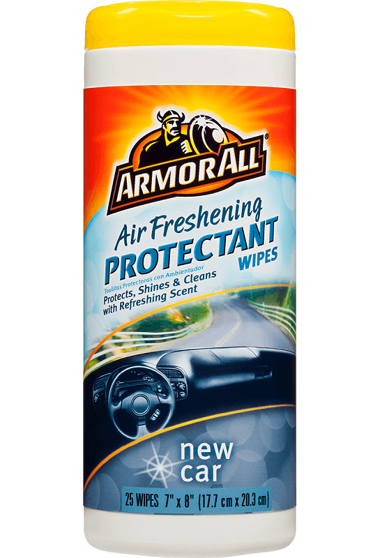 Armor All 78533 New Car Air Freshening Protectant Wipes, 25-Count