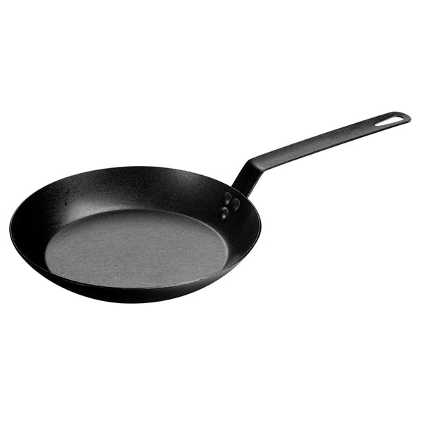 "Lodge CRS10 Pre-Seasoned Carbon Steel Skillet, Black, 10"" Dia"