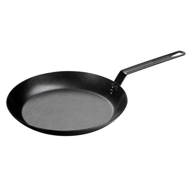 "Lodge CRS12 Pre-Seasoned Carbon Steel Skillet, Black, 12"" Dia"
