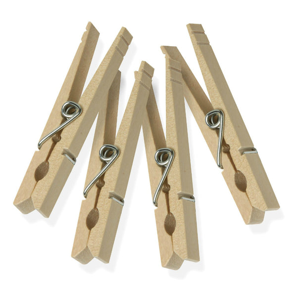 Honey-Can-Do DRY-01374 Classic Wooden Clothespins w/Spring, Natural, 24-Pack