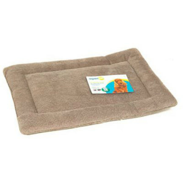 "Petmate 26556 Kennel Mat for Pets 25 To 30 Lbs, Tan, 23.5"" x 16.5"""