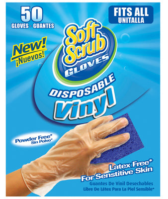 Soft Scrub 11250-16 Disposable Vinyl Gloves, 50-Count